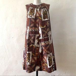 Vintage Tiki Gods Dress by Paradise Hawaii